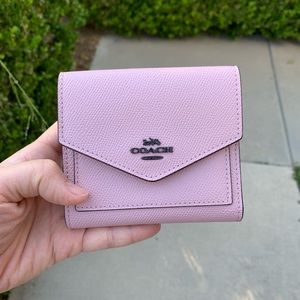 NWT COACH  SMALL WALLET IN CROSSFRAIN LEATHER
